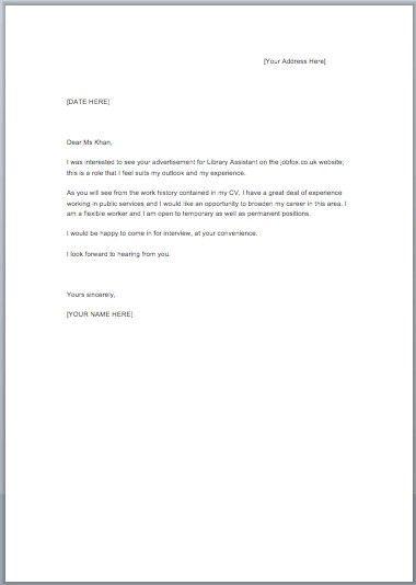 Free Cover Letter Examples For Resume. Examples Of Cover Letters ...