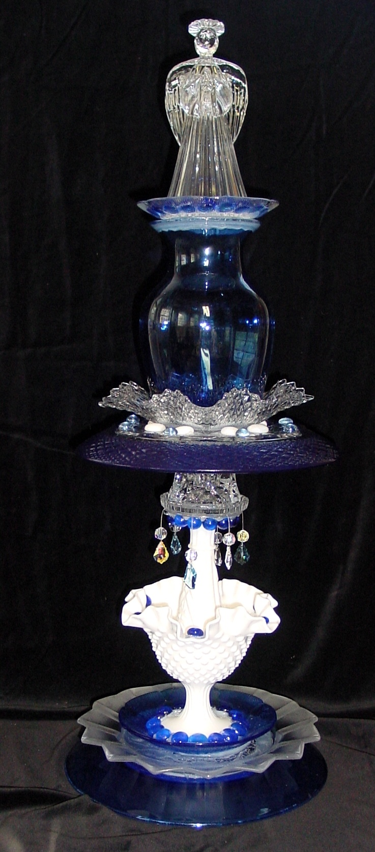 1000 images about repurposed glass on pinterest glass for Recycled glass garden ornaments