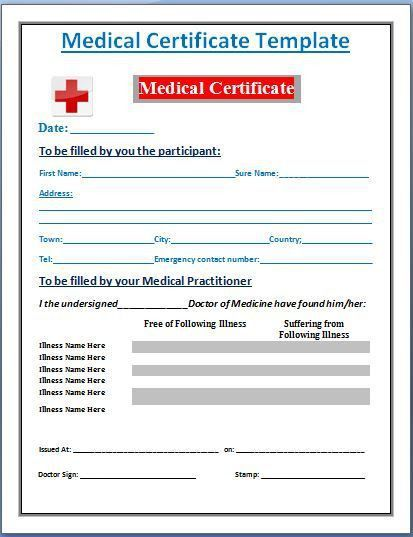 A medical certificate is required for various purposes. It helps ...