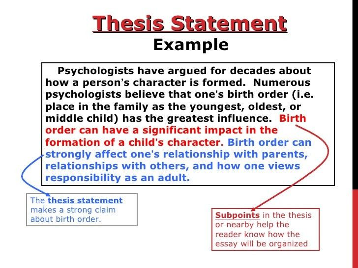 How to Write a Thesis Statement!