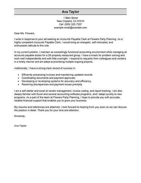 accounting cover letter samples free resume cover letter template ...