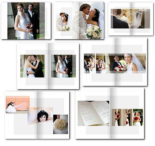 10x15 Wedding Album Templates | arc4Studio