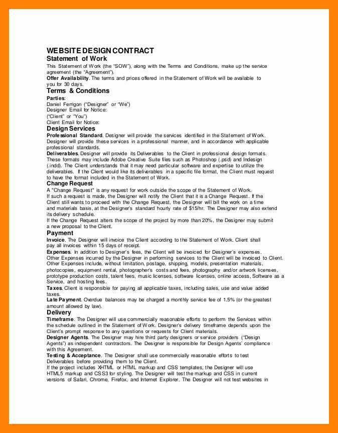 6+ design contract   informal letter