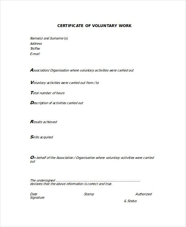 Work Experience Certificate Format Doc | Create professional ...