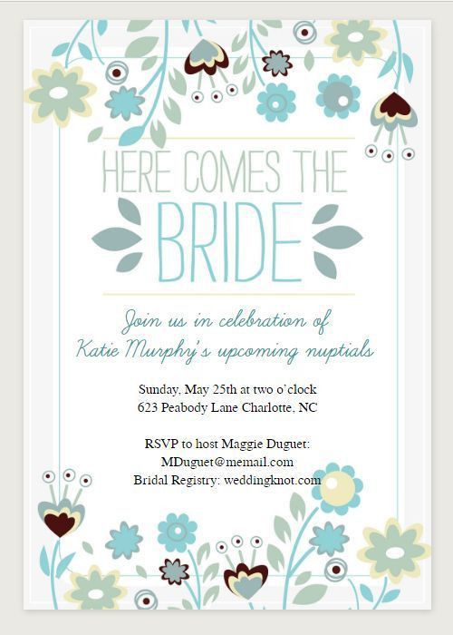 Outstanding Free Printable Bridal Shower Invitations Cards 86 On ...