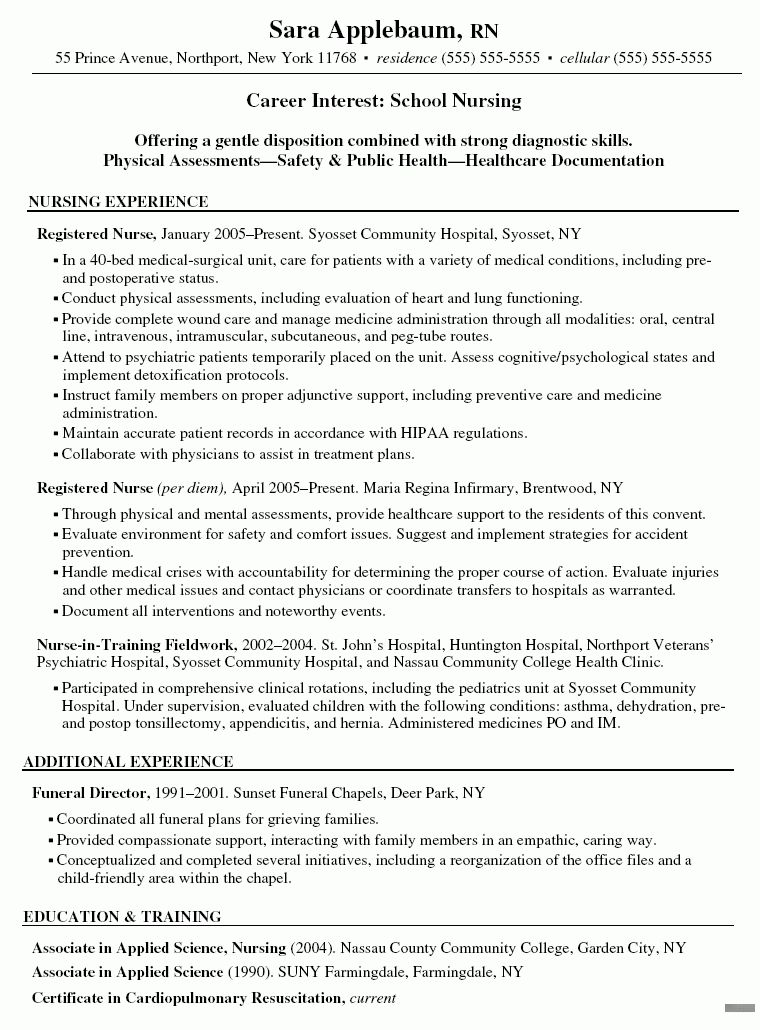 Effective and Professional Nursing Resume Template and Writing ...
