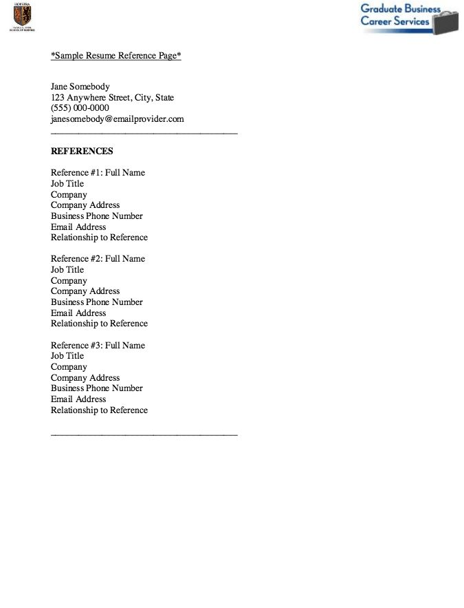 Download Reference Page Format Resume | haadyaooverbayresort.com