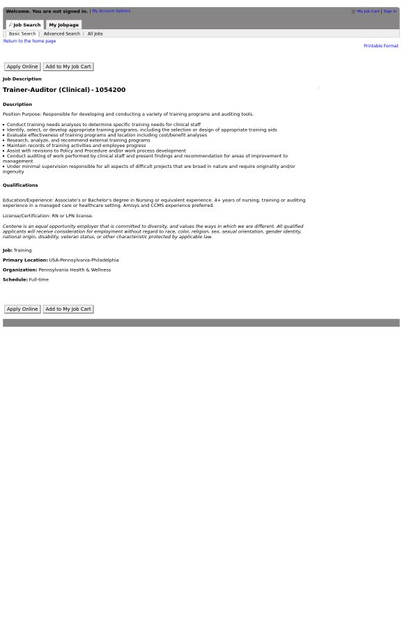 Trainer - Auditor job at Centene Corporation in Philadelphia, PA ...