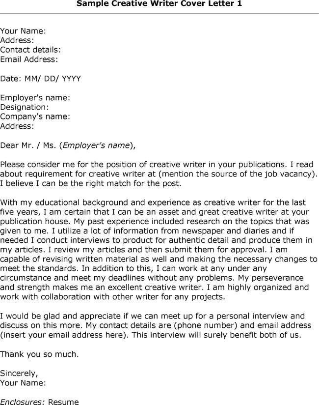 recruitment cover letters