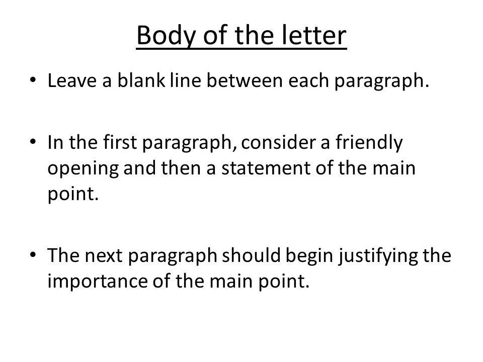 WRITING BUSINESS LETTERS - ppt video online download