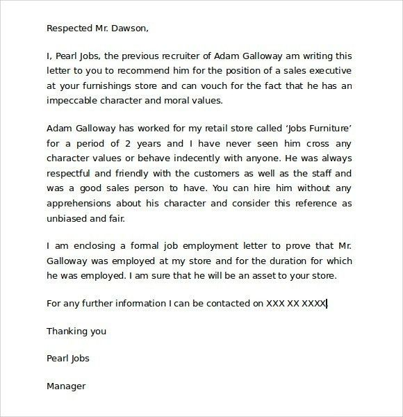 Character Reference Letter Child Custody | The Letter Sample
