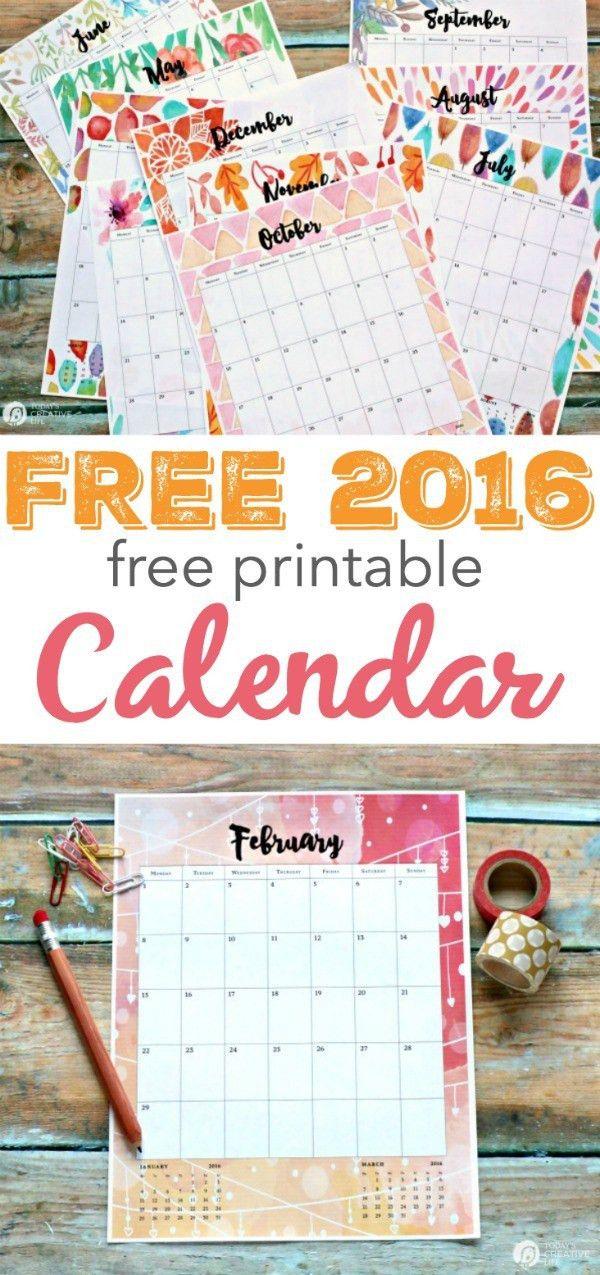 2016 Calendar Printable   Today's Creative Life