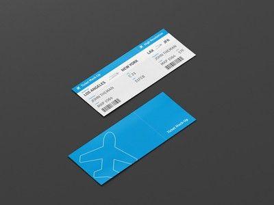 Ticket Design by Viscon Design - Dribbble