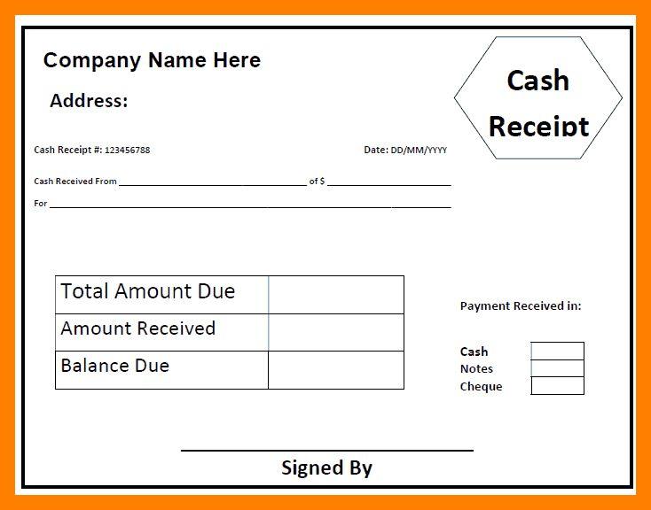 6+ cash receipt format india | example of memo