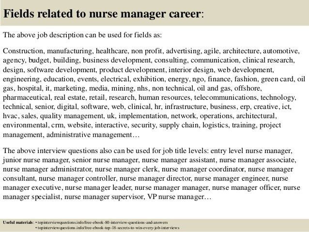 Top 10 nurse manager interview questions and answers