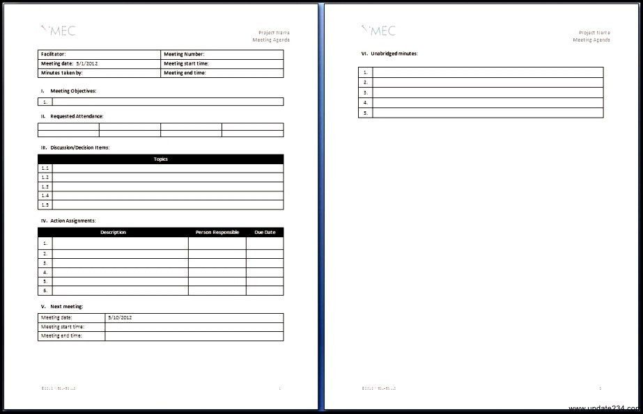 Workshop Agenda Template Microsoft Word - Template Update234.com ...