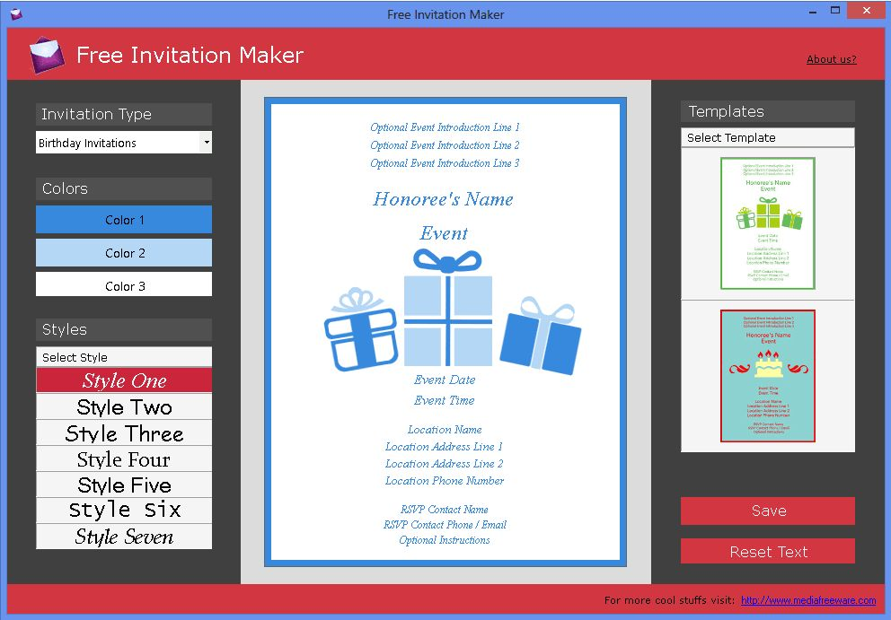 Free Invitation Maker - Download