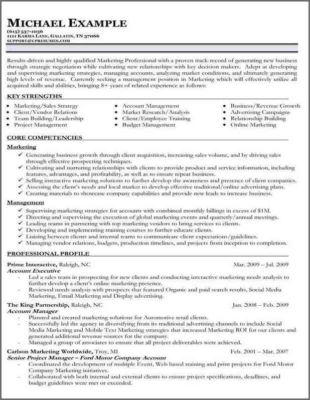 FUNCTIONAL RESUME SAMPLE | Bidproposalform.com