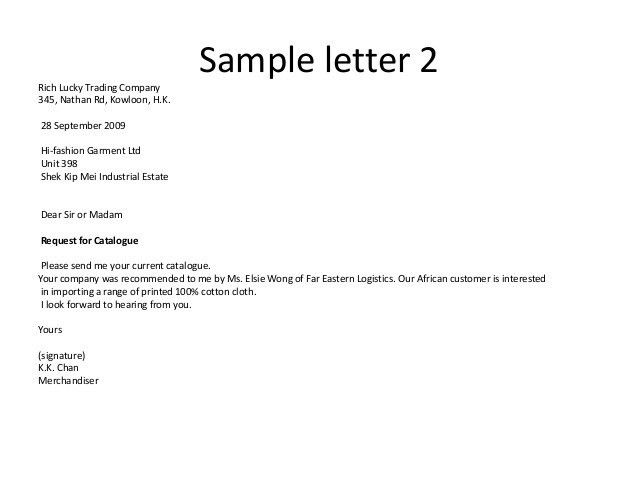 Formal Inquiry Letter Samples For Your Inspirations : Vatansun