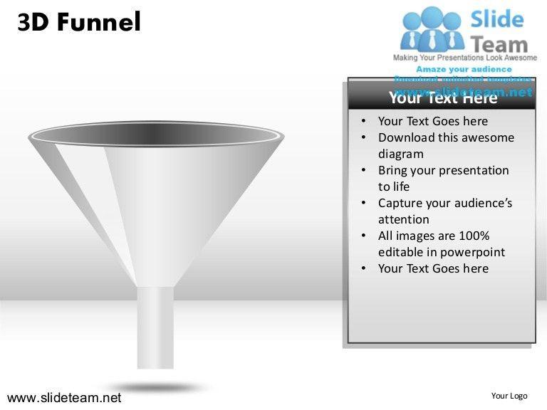 3d sales funnel powerpoint ppt slides.