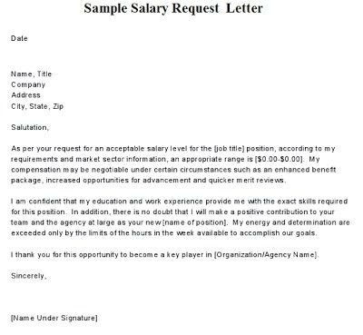 Salary Request Letter Format | The Letter Sample
