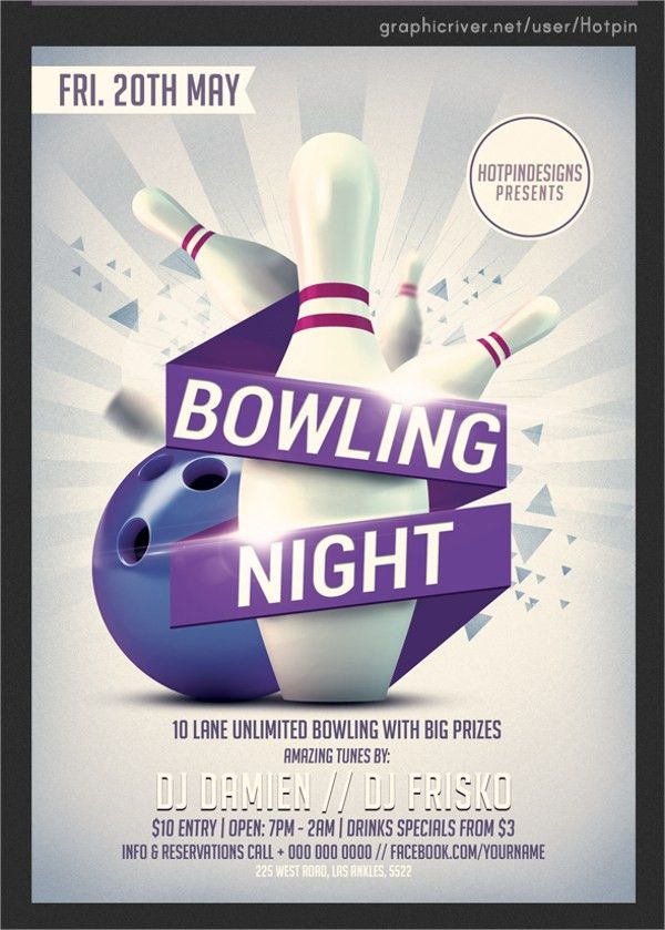 Bowling Flyer Template - 19+ Download In Vector EPS, PSD