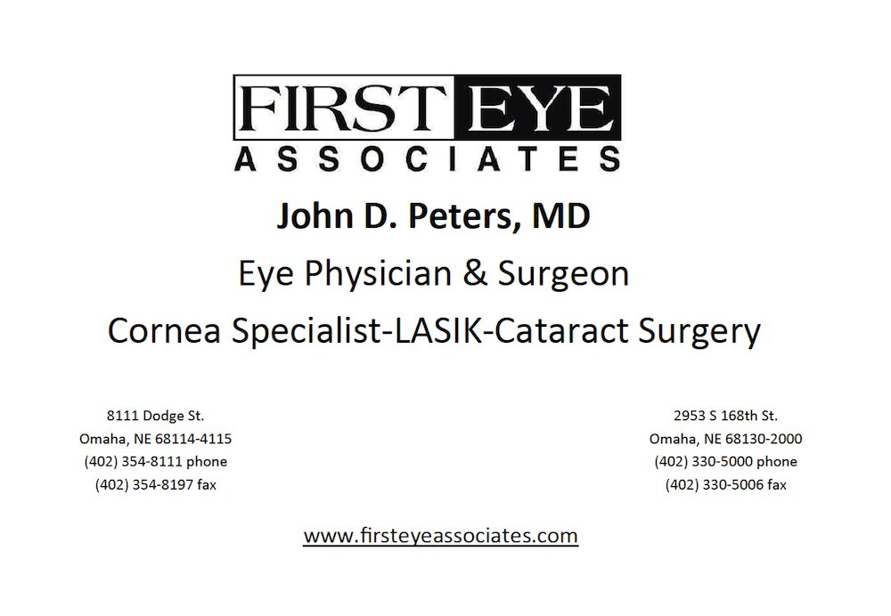 Dr. John D. Peters | First Eye Associates