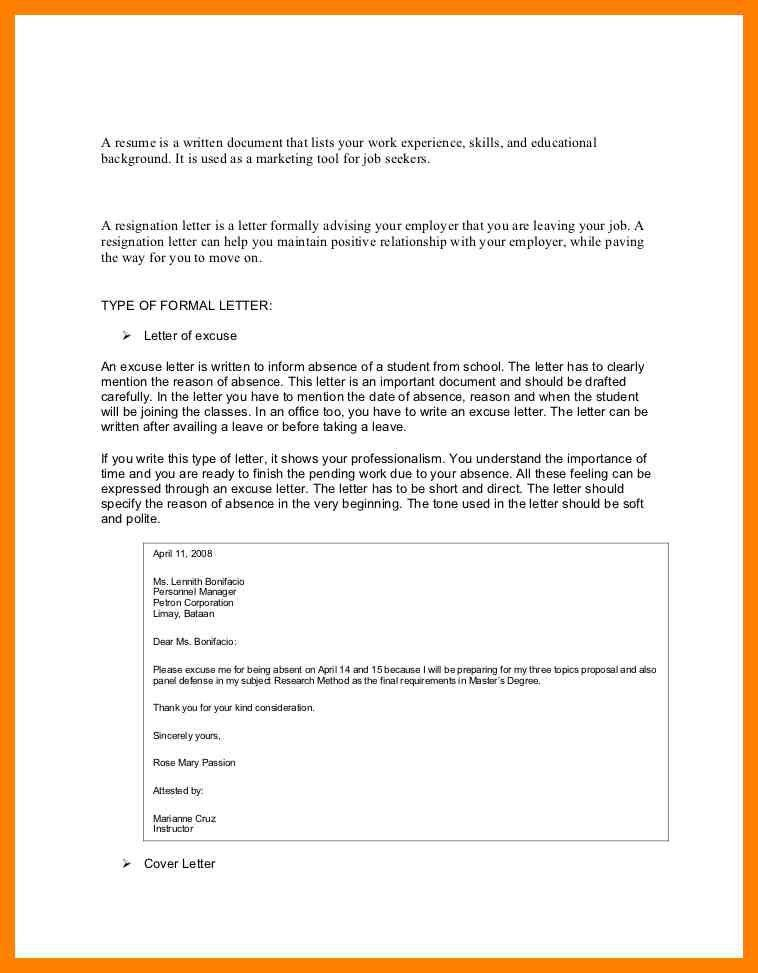 Stunning Sample Leave Request Ideas - Best Resume Examples for ...