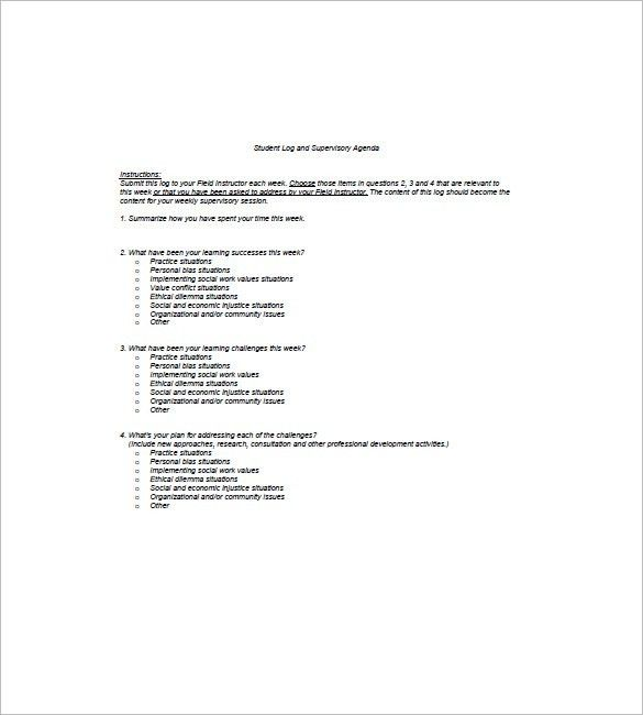 8+ Student Agenda Templates – Free Sample, Example, Format Do ...