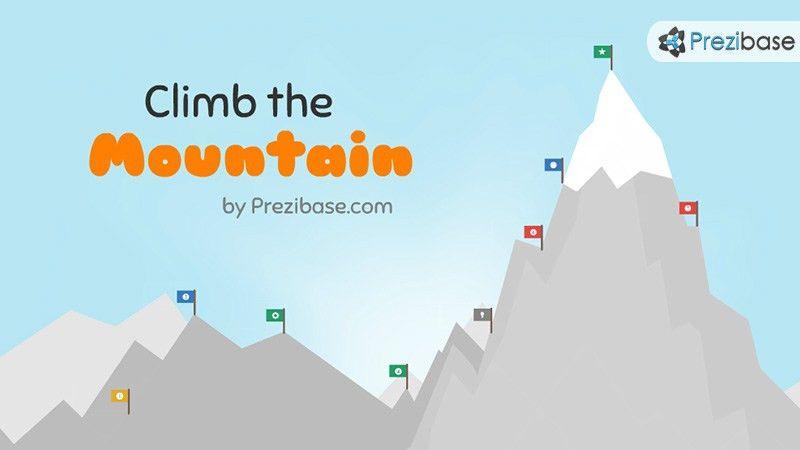 Climb the Mountain Prezi Template | Prezibase