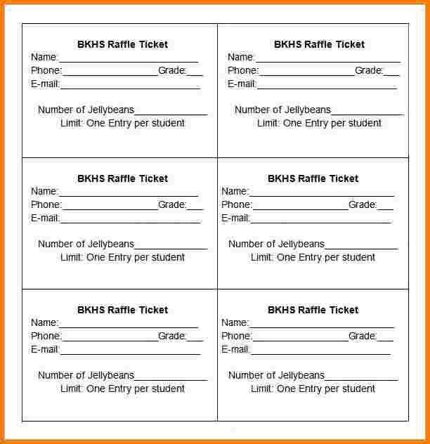 7 raffle ticket template   Receipt Templates