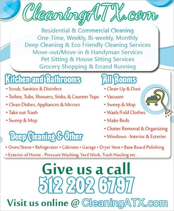 House cleaning flyers ideas - House and home design