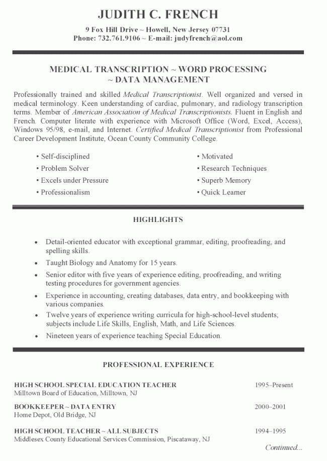 High School Teacher Resume Sample | Resume Examples 2017