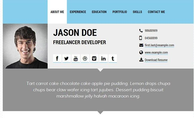 15 best html resume templates for awesome personal sites free ...