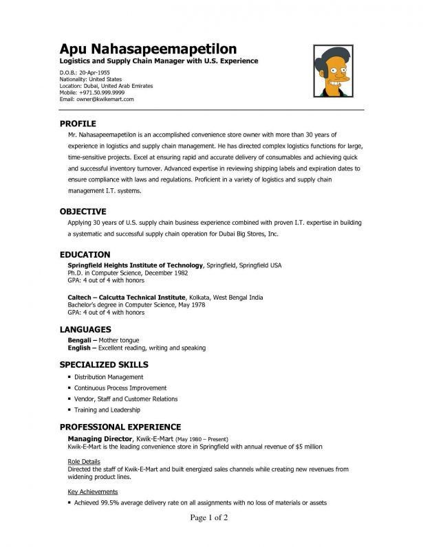 Curriculum Vitae : Nursing Cv Templates Free Download Pharmacy ...