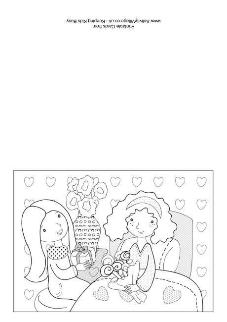 Get Well Soon Colouring Card 5