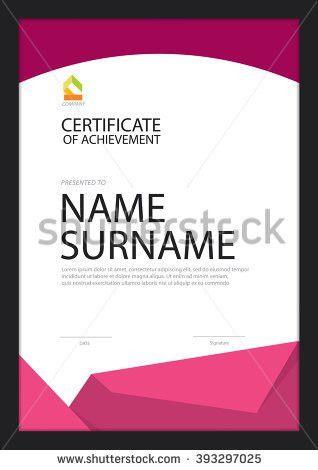 Vector Certificate Template Premium Minimal Design Stock Vector ...
