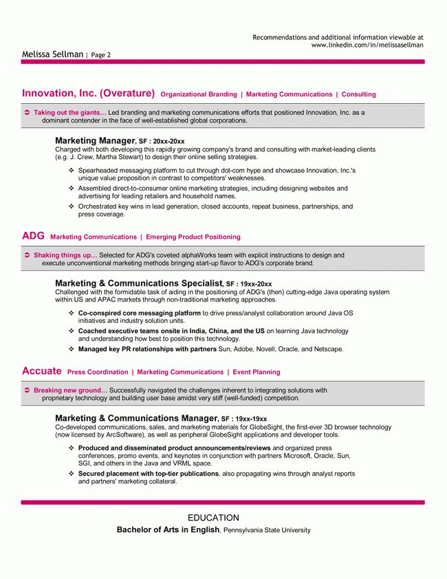 19+ Sample Resume For Marketing Manager | Vacation Letters ...