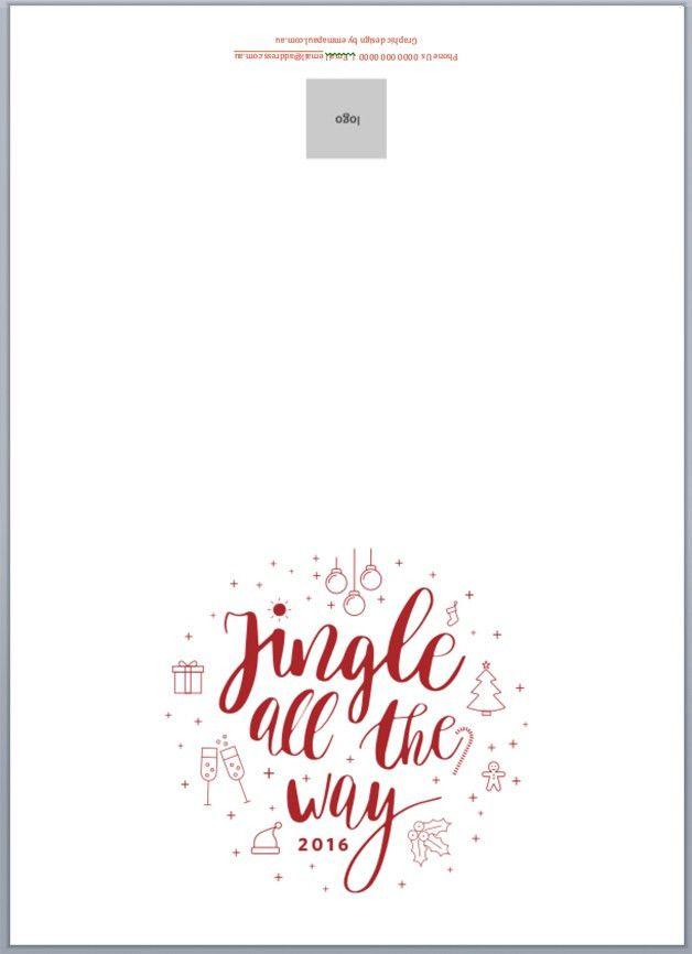 Jingle all the way! Free printable 2016 Christmas Card - Freelance ...