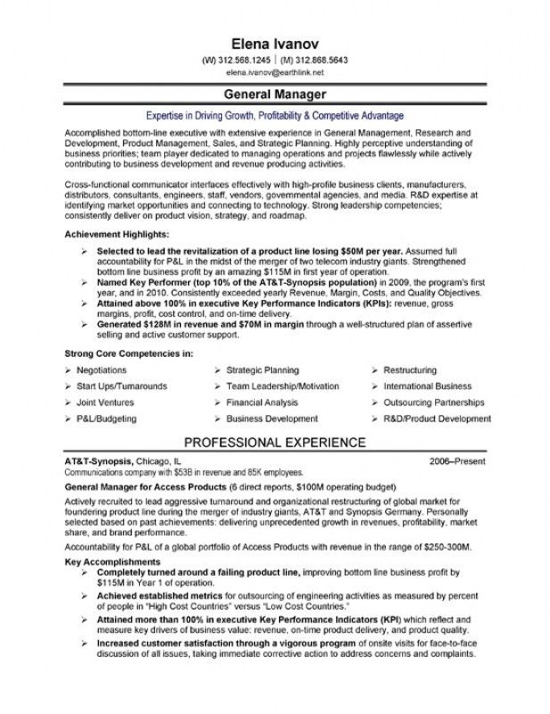 Senior Executive Resume Examples. Executive Resumes Senior ...