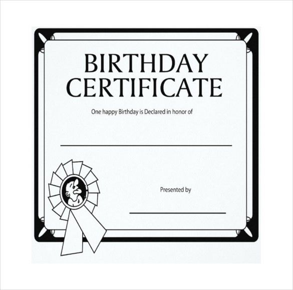 Birthday Gift Certificate Template – 12+ Free Word, PDF, PSD ...