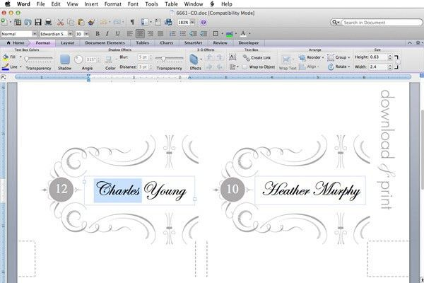 Elegant Place Card Template – Download & Print