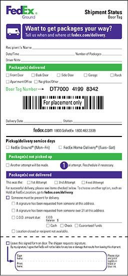 Pickup and Delivery Service Options - FedEx