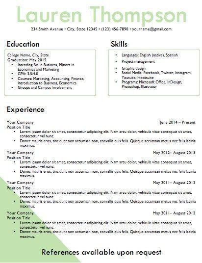 17 best InspireBranding Resume Design images on Pinterest | Resume ...