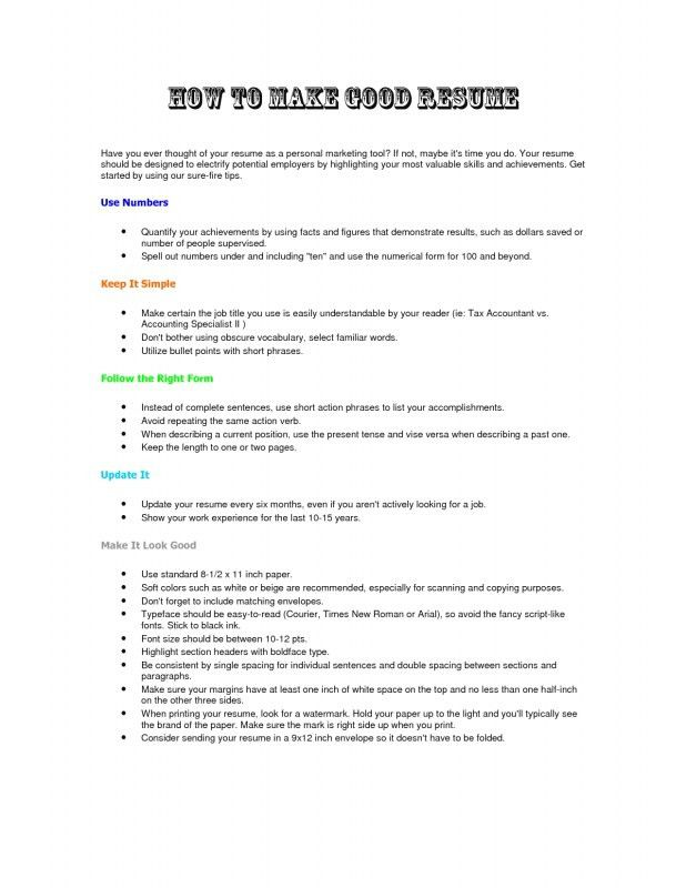 How To Make Perfect Resume How To Write The Perfect Resume