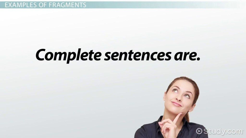 Complete Sentence: Examples & Definition - Video & Lesson ...