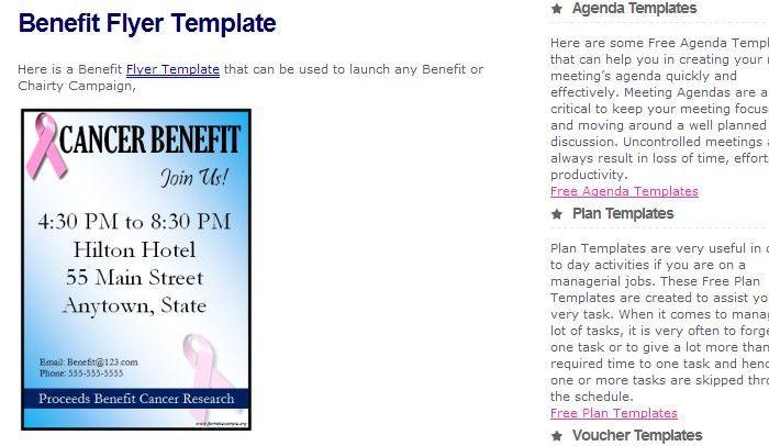 4 Free Benefit Flyer Templates | AF Templates