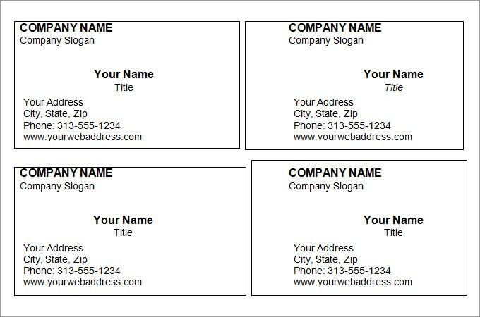 Surprising Free Blank Business Card Templates For Word 37 For Your ...