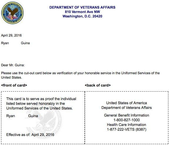 New Federal Veterans ID Card - Available for Issue Starting 2017