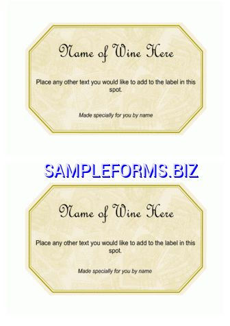 Wine Label Template & samples forms